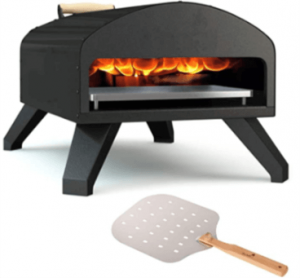 Outdoor Pizza Oven Black + Pizza Peel Combo